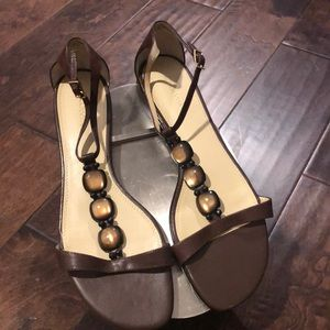 Liz Claiborne brown leather sandal